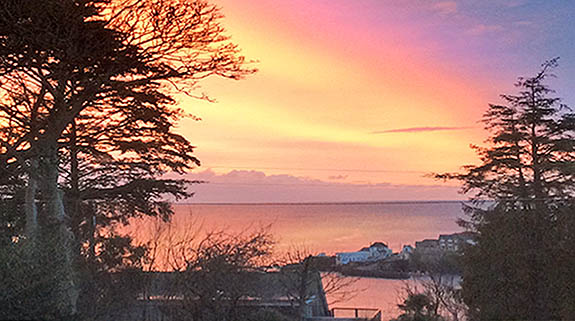Coverack Dawn in winter