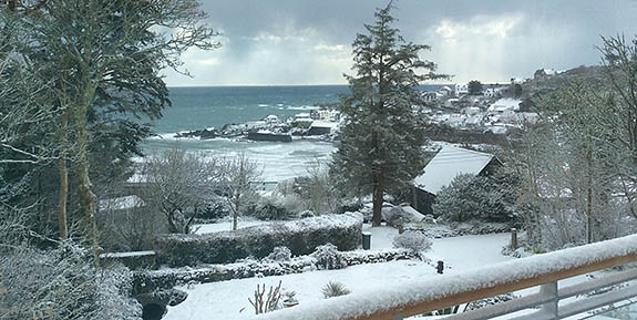 coverack in the snow